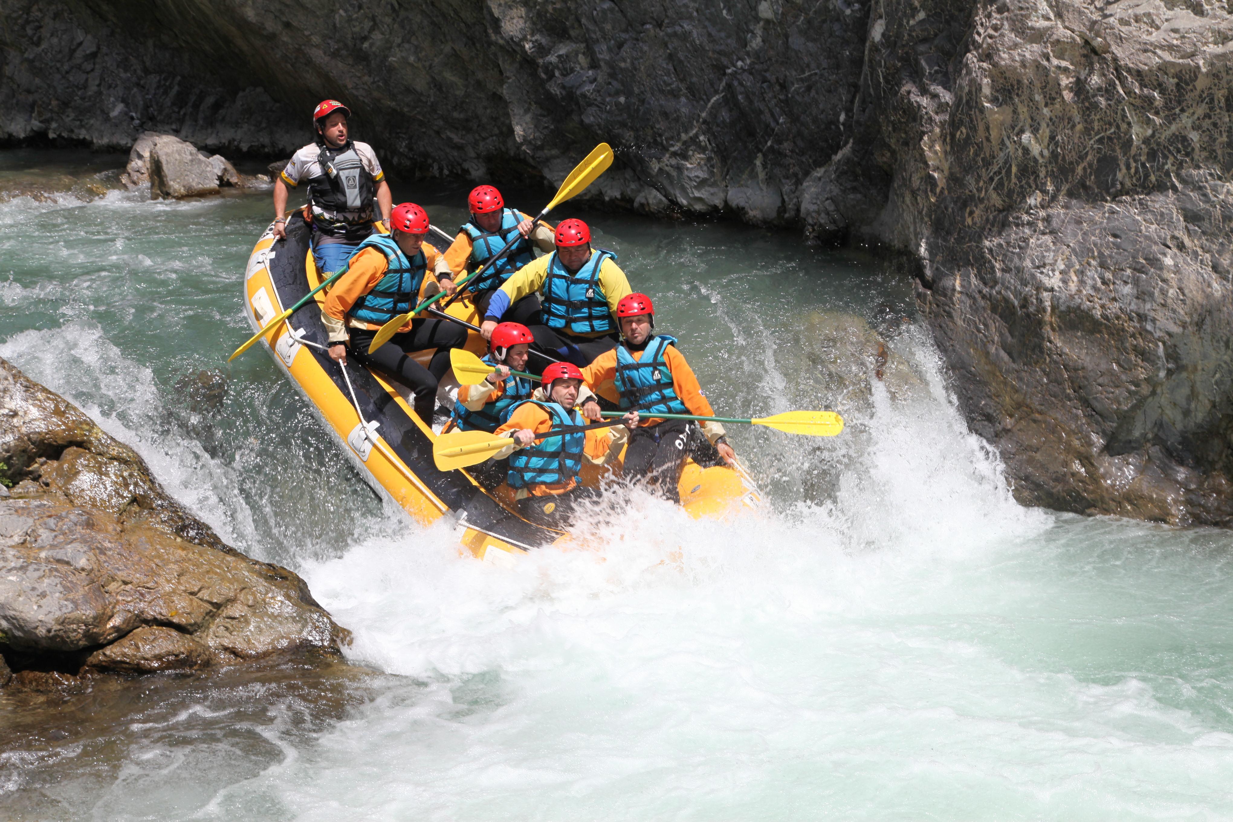 Rafting sul fiume Lao in Calabria